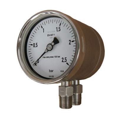 pressure gauge hook up drawing