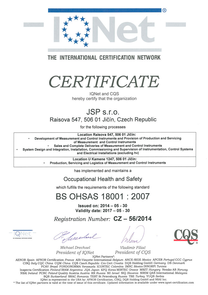 IQNet - OHSAS 18001