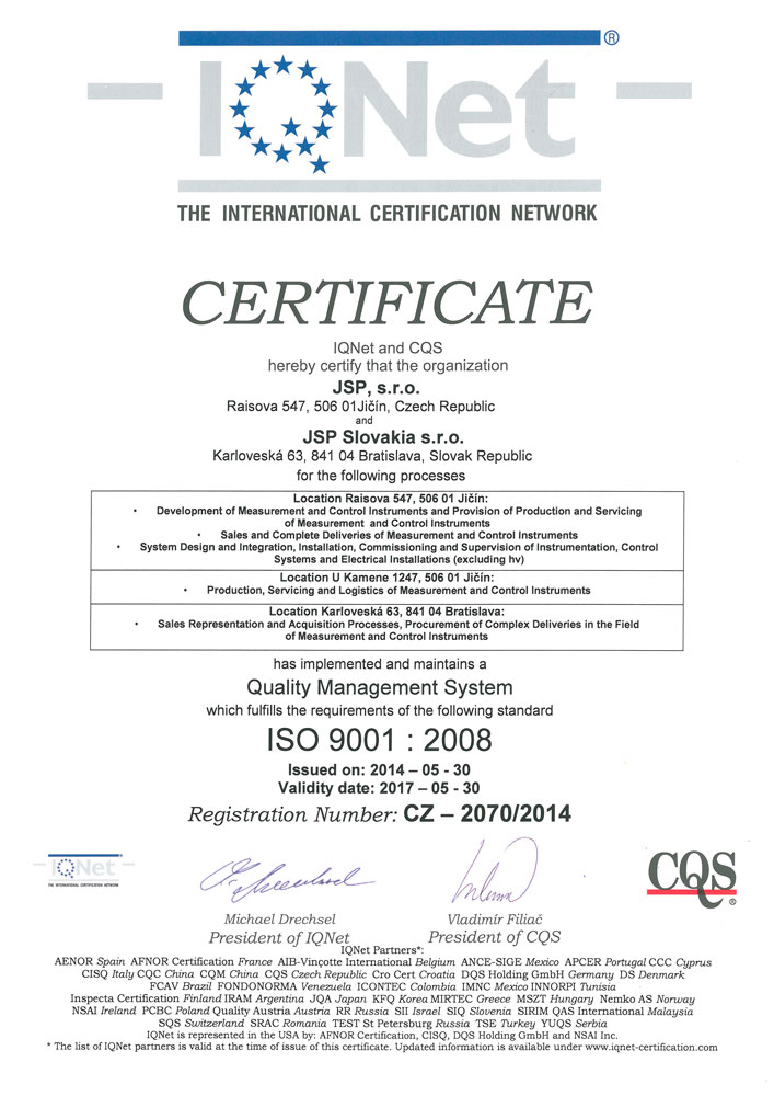 IQNet - ISO 9001