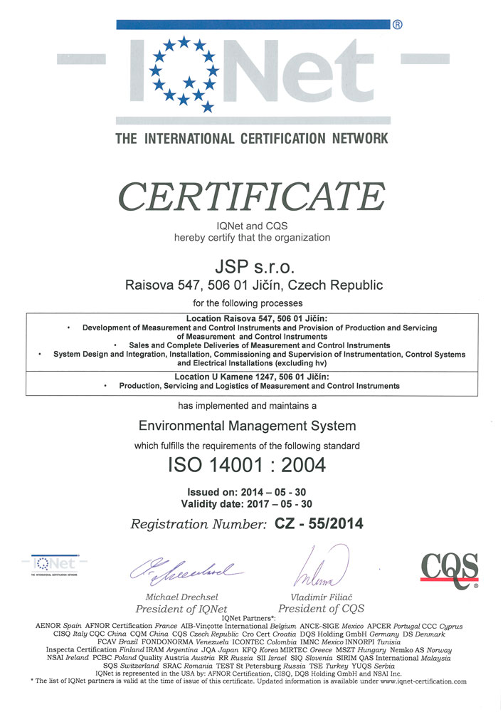 IQNet - ISO 14001
